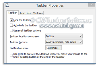 WinTuning: Tweak and Optimize Windows 7, 10, 8 - Prevent change taskbar settings