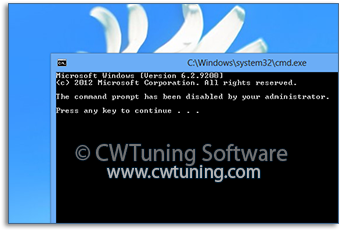 WinTuning: Tweak and Optimize Windows 7, 10, 8 - Disable Command Prompt and Bat files