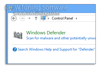 Disable Windows Defender - WinTuning Utilities: Optimize, boost, maintain and recovery Windows 7, 10, 8 - All-in-One Utility