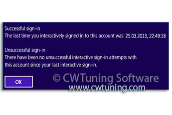 WinTuning: Tweak and Optimize Windows 7, 10, 8 - Display information about previous logon