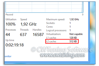 CPU Second Level Cache - WinTuning Utilities: Optimize, boost, maintain and recovery Windows 7, 10, 8 - All-in-One Utility
