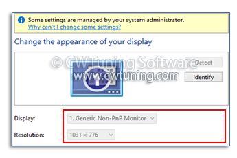 Disable Display personalization - WinTuning Utilities: Optimize, boost, maintain and recovery Windows 7, 10, 8 - All-in-One Utility