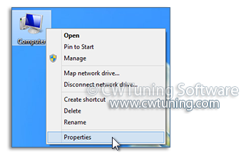 Remove the properties item of the «Computer» icon - WinTuning Utilities: Optimize, boost, maintain and recovery Windows 7, 10, 8 - All-in-One Utility
