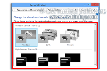 WinTuning: Tweak and Optimize Windows 7, 10, 8 - Disable Theme selection