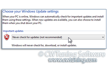 Remove links and access to «Windows Update» - WinTuning Utilities: Optimize, boost, maintain and recovery Windows 7, 10, 8 - All-in-One Utility