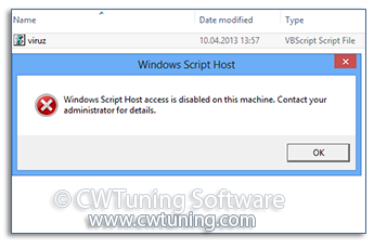 Disable Windows Script Host - WinTuning Utilities: Optimize, boost, maintain and recovery Windows 7, 10, 8 - All-in-One Utility