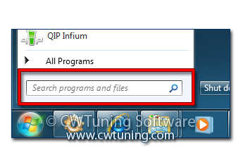 Do not search programs and control panel items - This tweak fits for Windows 7
