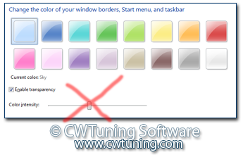 Disable changing frame coloring - This tweak fits for Windows 7