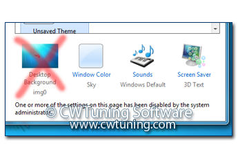 Restrict Wallpaper selection - This tweak fits for Windows 7