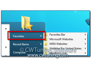 Remove «Favorites» item - This tweak fits for Windows 7