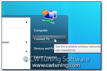 Remove «Connect To» item - This tweak fits for Windows 7