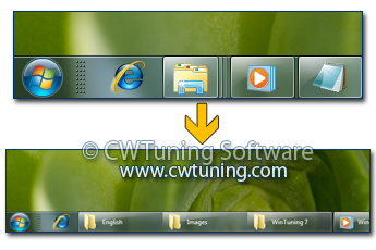 Prevent grouping of taskbar items - This tweak fits for Windows 7