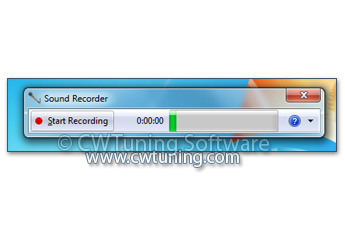 Disable the Sound Recorder - This tweak fits for Windows 7