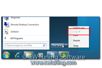 Disable «Log off» item - This tweak fits for Windows 7