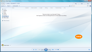 Windows Media Player: Library background image - This tweak fits for Windows 7