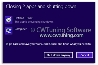 Turn off automatic termination of applications - This tweak fits for Windows 8