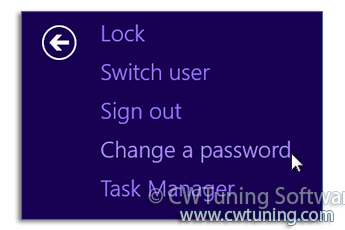 Remove «Change a password» item - This tweak fits for Windows 8