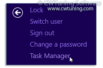 Remove «Start Task Manager» item - This tweak fits for Windows 8