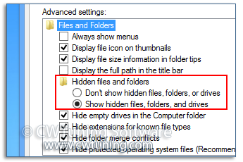 Force files and folders to not be shown - This tweak fits for Windows 8