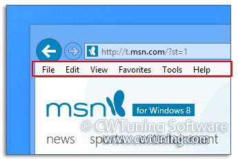 Show main menu - This tweak fits for Windows 8