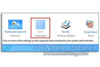 Disable «Windows Color» button - This tweak fits for Windows 8