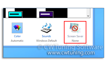 Disable «Screen Saver» button - This tweak fits for Windows 8