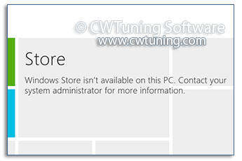 Remove Windows Store - This tweak fits for Windows 8