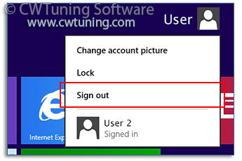 Disable «Log off» item - This tweak fits for Windows 8