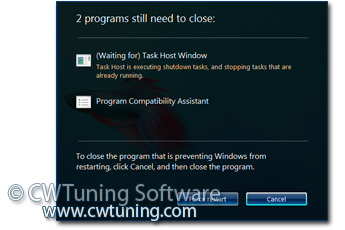 Turn off automatic termination of applications - This tweak fits for Windows Vista