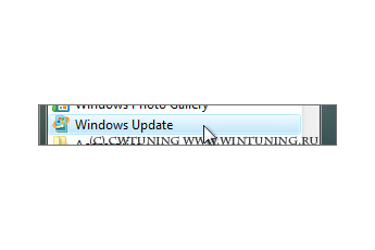 Remove links and access to «Windows Update» - This tweak fits for Windows Vista