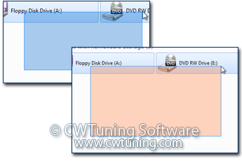 WinTuning 7: Optimize, boost, maintain and recovery Windows 7 - All-in-One Utility - Color for the selection rectangle