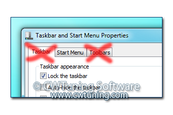 WinTuning 7: Optimize, boost, maintain and recovery Windows 7 - All-in-One Utility - Lock all taskbar settings