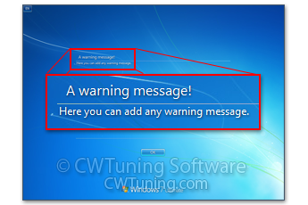 WinTuning 7: Optimize, boost, maintain and recovery Windows 7 - All-in-One Utility - Enable Legal Notice Dialog Box before Logon