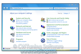 WinTuning 7: Optimize, boost, maintain and recovery Windows 7 - All-in-One Utility - Disable Control Panel