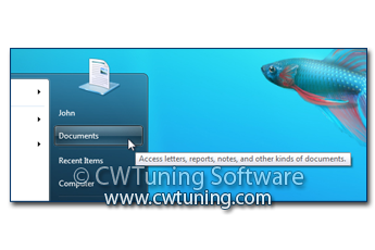 WinTuning 7: Optimize, boost, maintain and recovery Windows 7 - All-in-One Utility - Remove «Documents» item