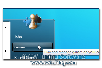 WinTuning 7: Optimize, boost, maintain and recovery Windows 7 - All-in-One Utility - Remove «Games» item