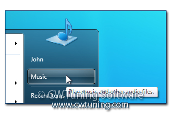 WinTuning 7: Optimize, boost, maintain and recovery Windows 7 - All-in-One Utility - Remove «Music» item