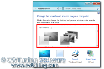 WinTuning 7: Optimize, boost, maintain and recovery Windows 7 - All-in-One Utility - Disable Theme selection
