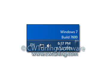 WinTuning 7: Optimize, boost, maintain and recovery Windows 7 - All-in-One Utility - Display the Windows version in the right bottom corner