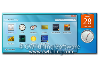 WinTuning 7: Optimize, boost, maintain and recovery Windows 7 - All-in-One Utility - Disable gadgets