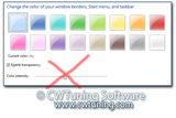 WinTuning 7: Optimize, boost, maintain and recovery Windows 7 - All-in-One Utility - Disable changing frame coloring