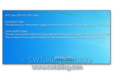WinTuning 7: Optimize, boost, maintain and recovery Windows 7 - All-in-One Utility - Display information about previous logon