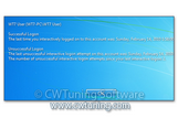 WinTuning 8: Optimize, boost, maintain and recovery Windows 8 - All-in-One Utility - Display information about previous logon